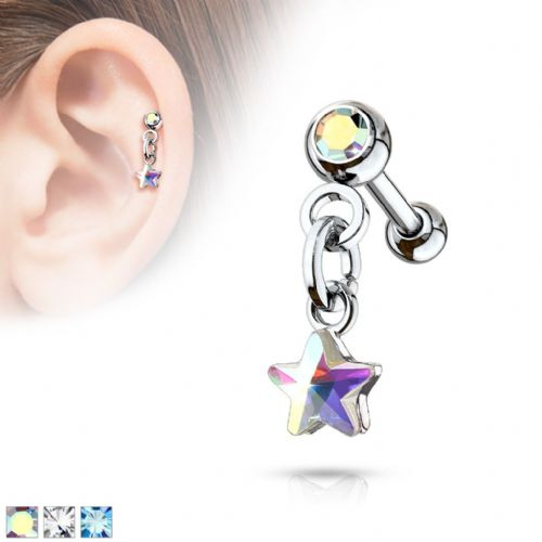 Star Dangle Cartilage Bar